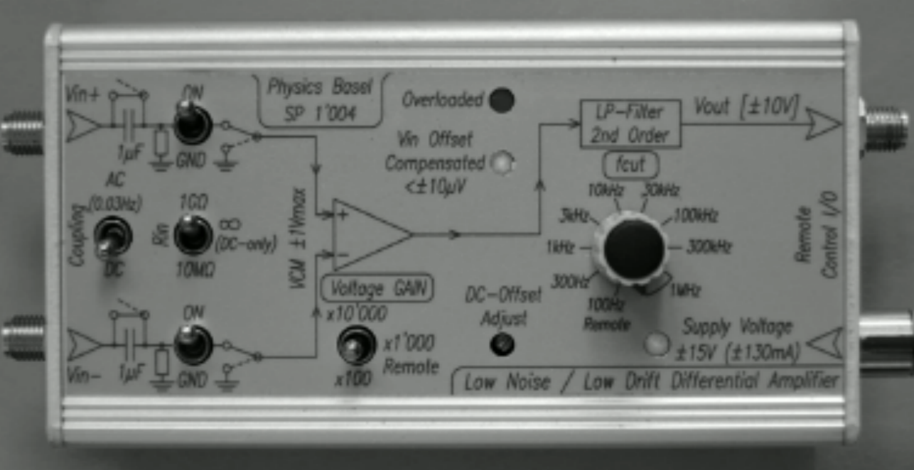 Low Noise Drift Differential Amplifier Nccr Qsit Quantum Ac Coupling And Offset Voltage In Diff